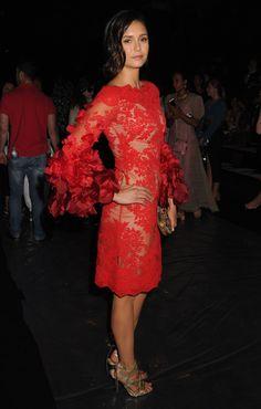 NINA DOBREV at Marchesa Spring/Summer 2017 Fashion Show at NYFW 09/14/2016