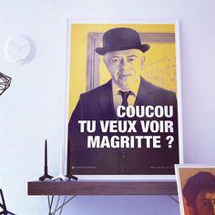 On la met bien à l'air sur Juniqe.com ! #accessoires #deco #cadre #frame #poster #interior #coucoutuveuxvoirmagritte #magritte #fistsetlettres #desfistsetdeslettres #trend #juniqe #juniqeartshop