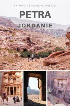 Randonnée sur le site de Petra en Jordanie.