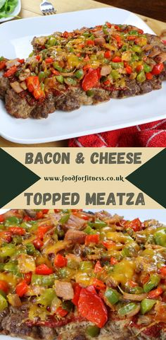 The Meatza is quite simply an epic high protein beast of a recipe. - The Meatza is quite simply an epic high protein beast of a recipe. If you like meat and pizza then - High Protein Recipes, Healthy Recipes, Keto Recipes, Dinner Recipes, Mince Dishes, Reduce Appetite, Rich In Protein, Beef Steak