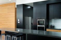Matt black cabinetry