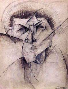 artishardgr:  Umberto Boccioni - Study for sculpture 'Empty and full abstracts of a head', 1912 HD