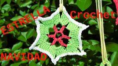 Como hacer Estrellas en tejido crochet para Navidad tutorial paso a paso