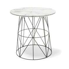 Marble Top Wire Table | Kmart