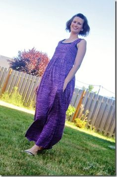 I am lovin' maxi-dresses and skirts this summer - they hide everything, but you can still be cool during those HOT summer days.  This tutorial is chockful of pictures to help you make your own.