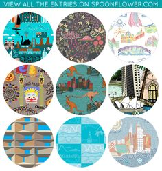 Vote for Your Favorite Australian City Fabric!  (Mine's in the upper right-hand corner!)