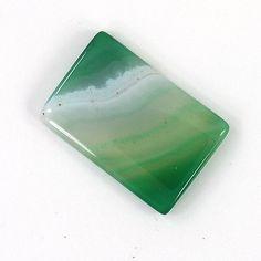 Cushion Shape Green Onyx Gemstone Unique Gemstone Healing Gemstone / 34 x 23 mm Birthstone Gems