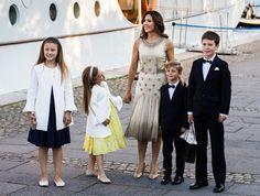 Newmyroyals: Prince Nikolai's 18th Birthday, Dannebrog Yacht, August 28, 2017-Princess Isabella, Princess Josephine, Crown Princess Mary, Prince Vincent and Prince Christian
