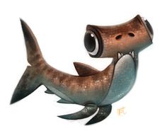 Daily Paint #632 - Hammerderp Shark by Cryptid-Creations on DeviantArt