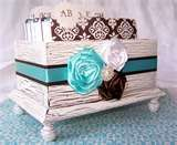 Image Detail for - Wedding Guest Book Box Aqua Blue and Brown by itsmyday on Etsy