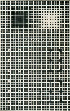 Victor Vasarely / Supernovae / 1959-61 / oil on canvas / this seems to move as you look at it, pretty amazing