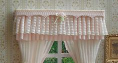 Miniature 112 Dollhouse curtains by TanyaCurtains on Etsy, $25.00