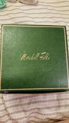 Marshall Fields Vintage Green Gift Box