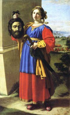 """Giovanni Battista il Sassoferrato, """"Judith,"""" 1630. Oil on canvas, Convent of San Pietro, Perugia, Italy"""