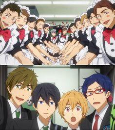 Samezuka maid cafe :'DD ((wtf)) though nitori looks kawaii as hell *rin voice