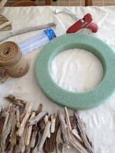 My Supply list for a Driftwood Wreath. More