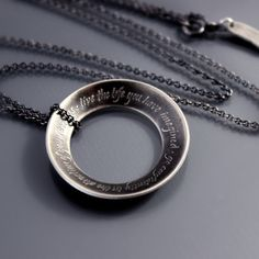 Thoreau Open Circle Necklace by Lisa Hopkins Design :: Go confidently in the direction of your dreams - live the life you have imagined.  (great graduation gift!)