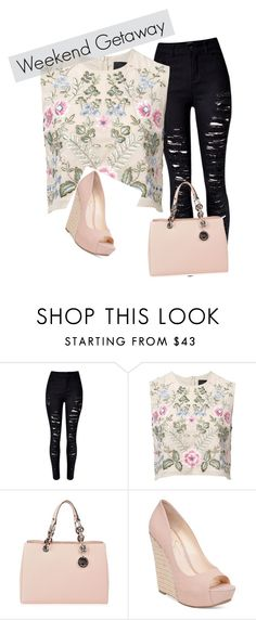 """oiefwmñ"" by nelssy-escalante-machacon on Polyvore featuring moda, WithChic, Needle & Thread, MICHAEL Michael Kors y Jessica Simpson"