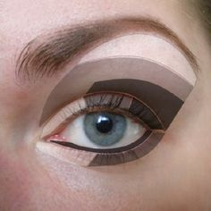 Eyeshadow shading diagram. HEY KATIE, LOOKIE!! A diagram for what i explained. Lol