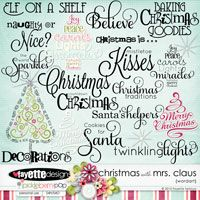 Christmas with Mrs. Claus WordArt by Fayette Designs