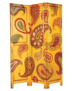 Paisley folding screen.