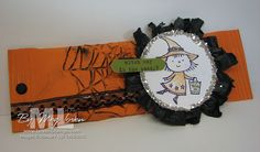 fang-tastic bling waffle paper glass glitter raven stampin up halloween