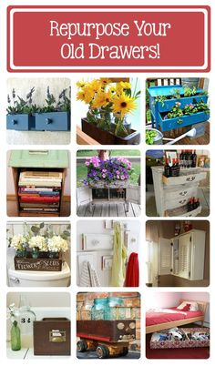 30 clever ways to repurpose old drawers! (make sure I have not pinned before?) (repin) #upcycle #furniture #drawers #repurpose