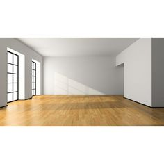 white empty rooms Empty Room In Green Colour 3D Rendering Фотография liked on Polyvore