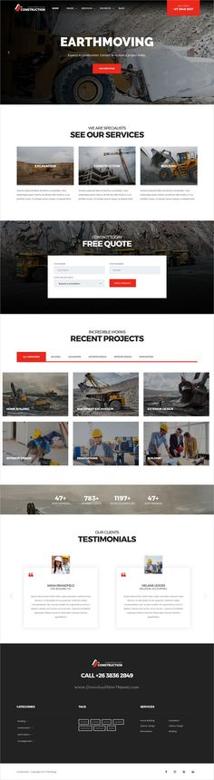 Construction is a wonderful 3in1 responsive #WordPress theme for #Construction, Building, #Excavation, Earthmoving and Architecture businesses websites download now➩ https://themeforest.net/item/construction-construction-wordpress-theme-for-construction-building-construction-companies/19337508?ref=Datasata