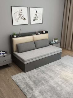 The impact of bedroom furniture will make you have a good night's sleep. Let's face it, and a modern bedroom furniture design can easily make it happen. Sofa Bed Design, Living Room Sofa Design, Bedroom Bed Design, Home Room Design, Bedroom Furniture Design, Bedroom Sofa, Sofa Beds, Painted Furniture, Furniture For Small Bedrooms