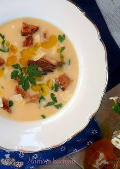 Bramborová krémová polévka (od 6 měsíců) | Máma v kuchyni Kefir, Cheeseburger Chowder, Soup, Baby, Straws, Babys, Soups, Baby Humor, Baby Baby