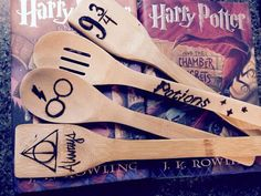Harry Potter Wood burned spoons by RusticGrooves on Etsy