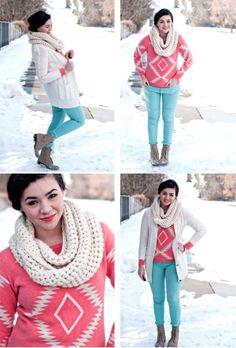 #Winter #fashion colorful winter fashion
