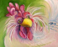 """pretty in pink chicken"" by Amy Hautman"