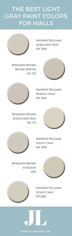 Struggling to pick the perfect light gray paint color for your home? It's all about the undertones. Learn about the best light gray paint colors in this post and download a printable PDF list.