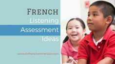 Looking for French listening assessment ideas? In this post I share informal listening assessment ideas for your French classroom. Kindergarten Assessment, Free In French, French Classroom, French Immersion, Teaching Materials, Comprehension, Activities, Education, Learning