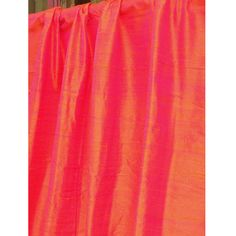 Coral Pink 100 Percent Pure Silk Dupioni Grommet by FabricMart