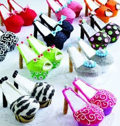 Cupcake shoes for bachelorette party!!