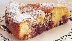 Plum and cardamom cake