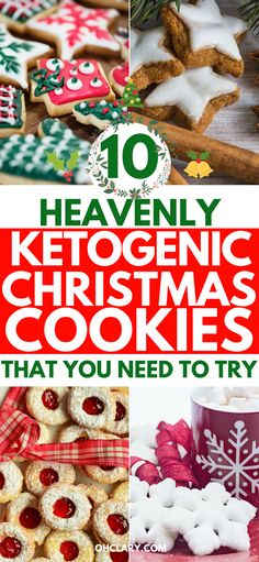 Keto Christmas Cookies - 10 Heavenly Low Carb Cookies Your Whole Family Will Love - 10 Of The Best Keto Christmas Cookies You Will Ever Try! Nothing says holidays quite like a smell of freshly baked Christmas cookies lingering in the . Keto Friendly Desserts, Low Carb Desserts, Low Carb Recipes, Snack Recipes, Easy Recipes, Diet Recipes, Dessert Recipes, Coconut Flour Recipes Low Carb, Keto Desert Recipes