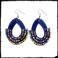 African earrings Maasai Earrings by Sipdada on Etsy