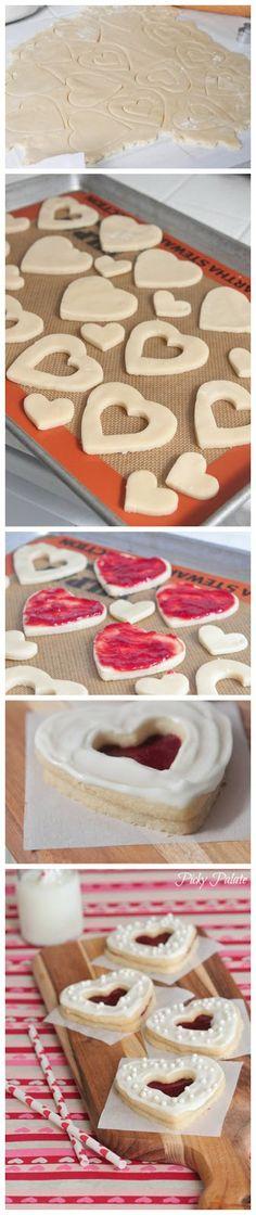 valentine shortbread cookie sandwiches more cookie sandwiches cookies ...