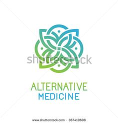 Vector abstract logo design template for alternative medicine health center and yoga studios - emblem made with leaves and lines Medicine Logo, Skincare Branding, Dream Logo, Education Logo Design, Family Logo, Yoga Logo, Health Center, Logo Design Template, Logo Images