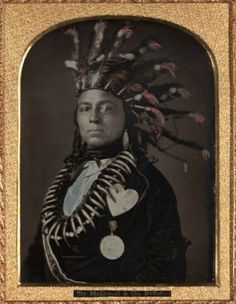 1850's, [daguerreotype portrait of Indian Chief Maungwudaus, Upper Canada], Donald McDonnell