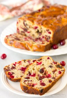 Fresh Orange Cranberry Bread Recipe - This sweet and zesty holiday bread makes wonderful edible gifts, and is a great addition to brunch menus and tea time!