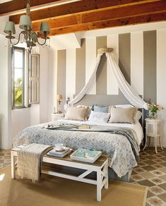 Perfect for a romantic getaway: Hotel Villa Station, Ses Salines, Spain… Small Master Bedroom, Dream Bedroom, Master Bedrooms, Linen Bedroom, Bedroom Decor, Minimalist Room, Villa, New Room, Home And Living