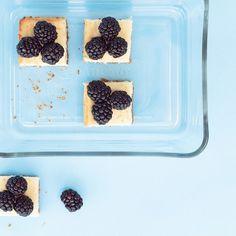 Lemon Cheesecake Squares with Fresh Berries recipe | Epicurious.com