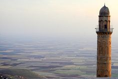 The minaret of the Grand mosque overlooking the ancient Mesopotamia plains