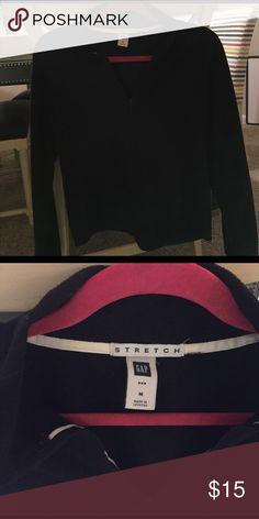 Black fleece pullover Half zip up. Black fleece. Super soft! GAP Tops Sweatshirts & Hoodies