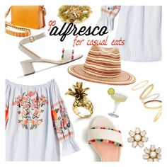 """""""Go Alfresco"""" by stacey-lynne ❤ liked on Polyvore featuring Free People, J.Crew, Street Level, Madewell, Ann Taylor, rag & bone and Kate Spade"""